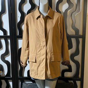Dennis by Dennis Basso Brown Leopard Jacket